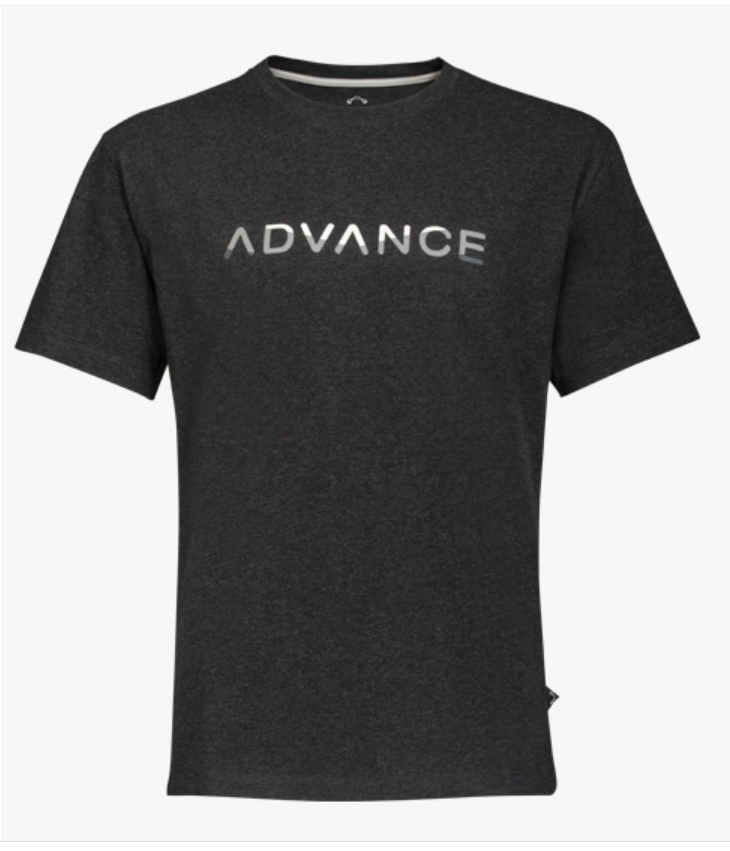 Advance T-Shirt monochrome black melange
